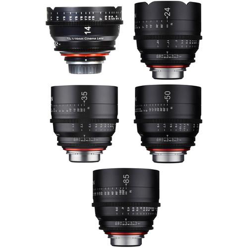 Rokinon Xeen 14, 24, 35, 50, 85mm Cine Lens Bundle (Sony E-Mount)