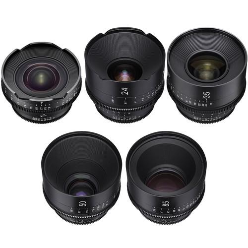 Rokinon Xeen 14, 24, 35, 50, 85mm Cine Lens Bundle (Nikon F)