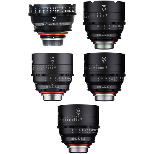 Rokinon Xeen 14, 24, 35, 50, 85mm Cine Lens Bundle (PL)