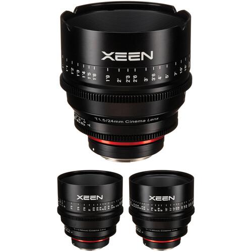Rokinon Xeen 24, 50, 85mm T1.5 Lenses for Canon EF Mount