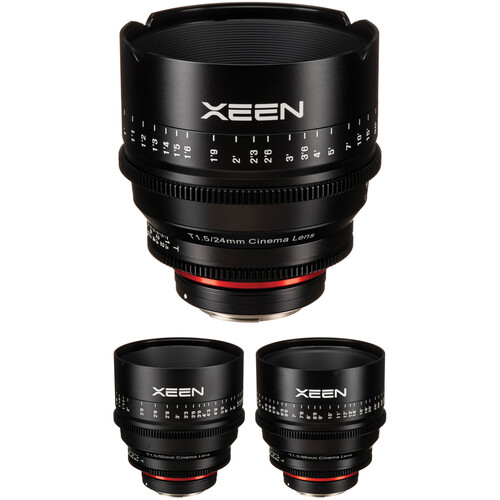 Rokinon Xeen 24, 50, 85mm T1.5 Lenses for Canon EF Mount