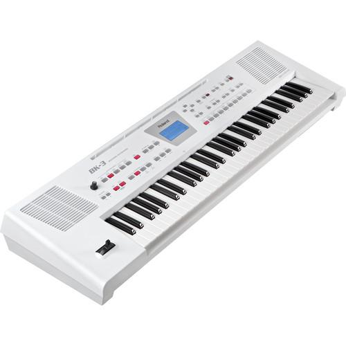Roland BK-3 Backing Keyboard (White)