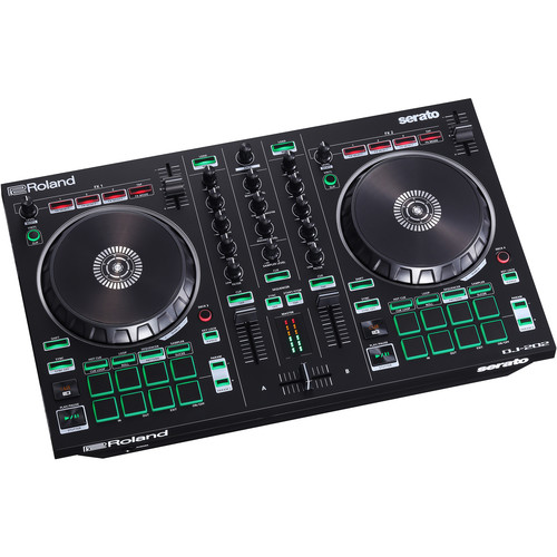 Roland DJ-202 2-Channel, 4-Deck DJ Controller for Serato DJ Intro