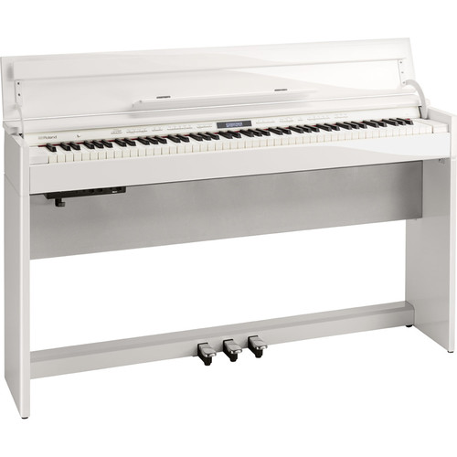 Roland DP603-PWC Digital Home Piano with PB-500PWD Bench (Polished White)
