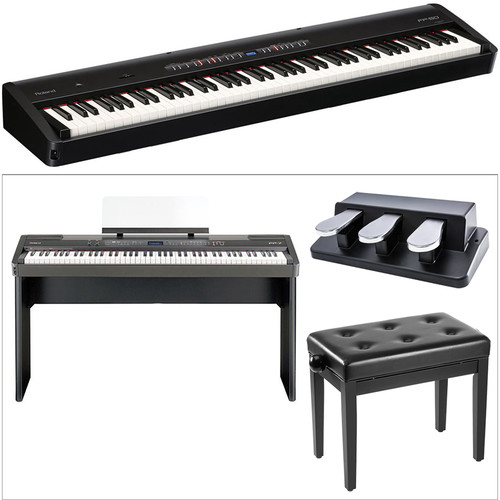 Roland FP-50 Digital Piano Kit with Stand, Bench, and Triple Foot-Pedal