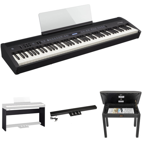 Roland FP-60 88-Key Digital Piano with Home/Studio Kit (Black)