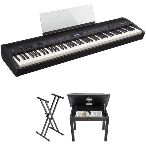 Roland FP-60 88-Key Digital Piano and Value Kit (Black)