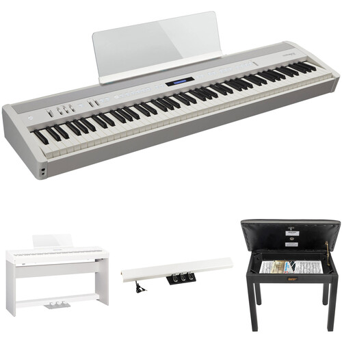 Roland FP-60 88-Key Digital Piano with Home/Studio Kit (White)