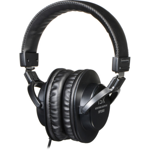 Roland ISK HP2000 Closed-Back Headphones (Black)