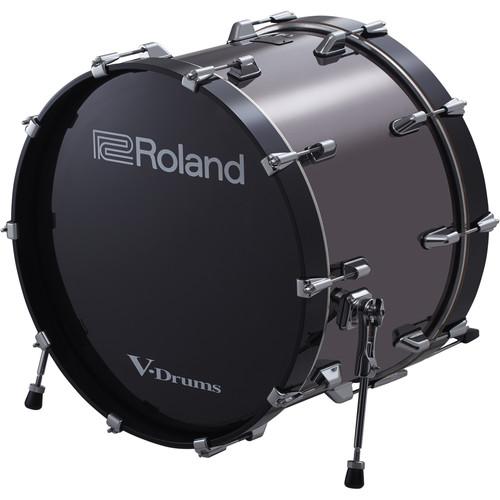 """Roland KD-220 V-Drums 22"""" Bass Drum (Black Chrome)"""