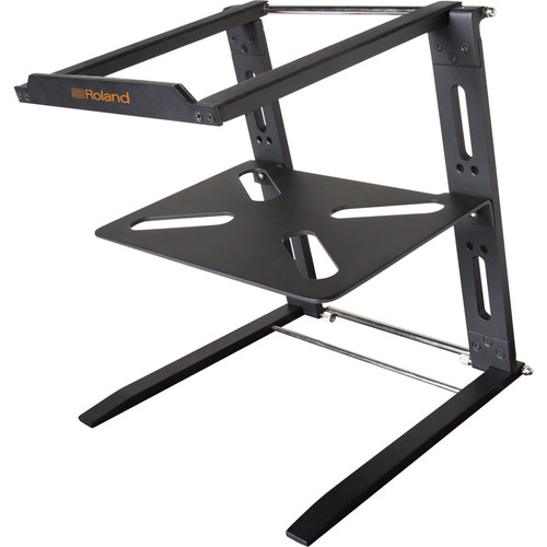 Roland Folding Aluminum Laptop Stand with Shelf