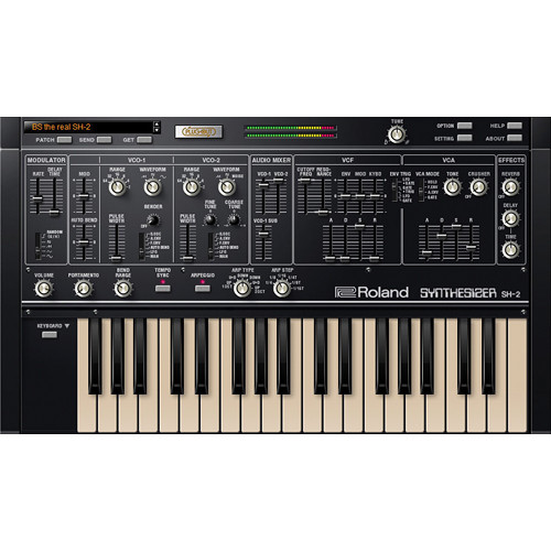 Roland SH-2 Plug-In Software Synthesizer for Mac and PC (Download)