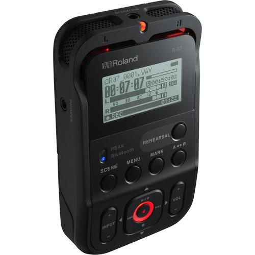 Roland R-07 Portable Audio Recorder (Black)
