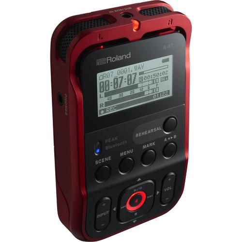 Roland R-07 Portable Audio Recorder (Red)