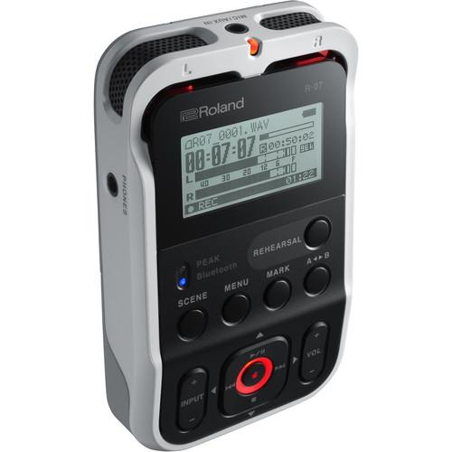 Roland R-07 Portable Audio Recorder (White)
