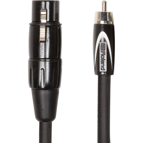 Roland Black Series XLR Female to RCA Interconnect Cable (10')