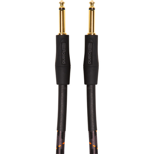"Roland Gold Series 1/4"" Plug to 1/4"" Plug Instrument Cable (5')"