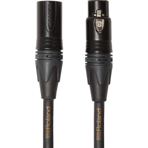 Roland RMC-GQ10 Gold Series XLR Male to XLR Female Quad Microphone Cable (10')