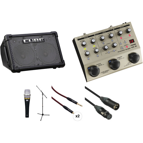 Roland CUBE Street EX Amplifier Kit with Boss VE-8 Acoustic Singer and More