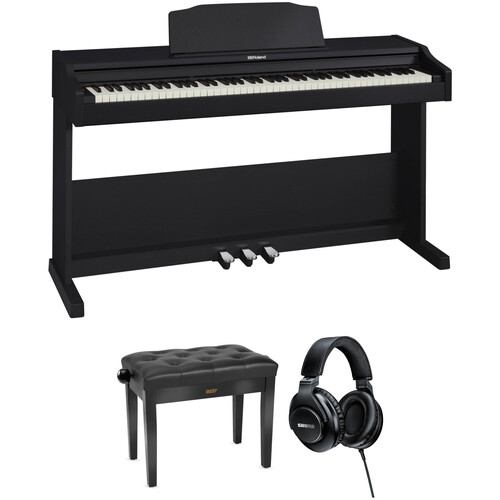 Roland RP-102 88-Key Digital Piano and Home/Studio Kit (Black)