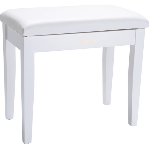 Roland RPB-100 Piano Bench with Storage Compartment (Satin White)