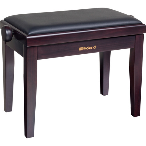 Roland RPB-220 Adjustable-Height Piano Bench with Velour Seat (Rosewood)
