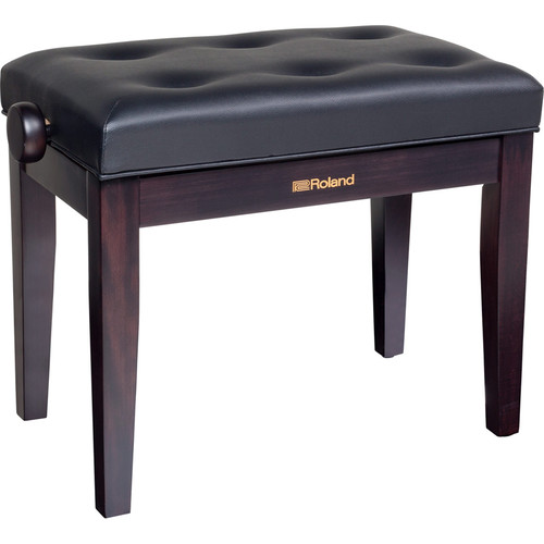 Roland RPB-300 Adjustable-Height Piano Bench with Cushioned Seat (Rosewood)