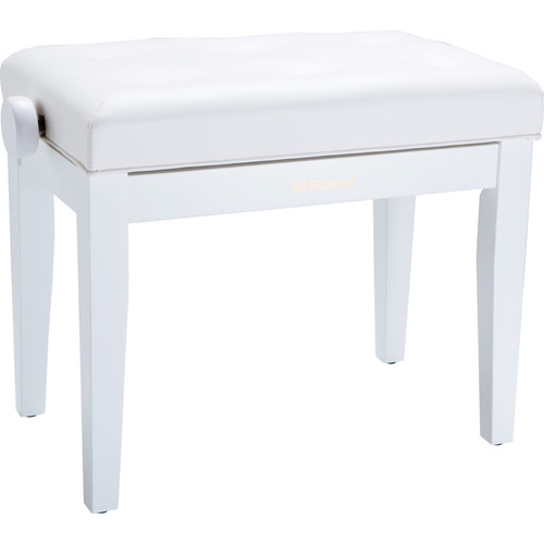 Roland RPB-300 Adjustable-Height Piano Bench with Cushioned Seat (Satin White)