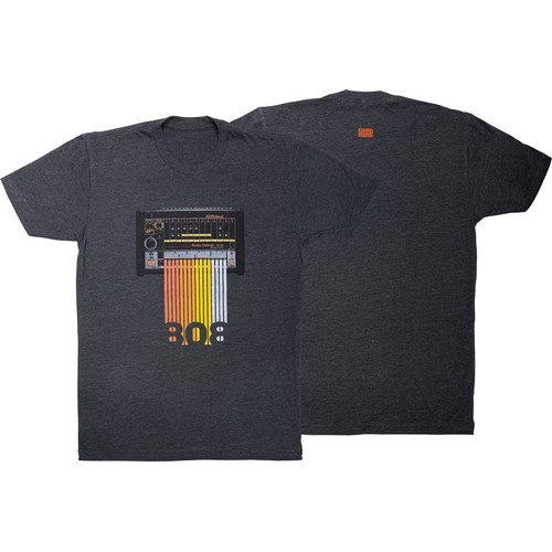 Roland TR-808 Crew T-Shirt (Large, Gray)