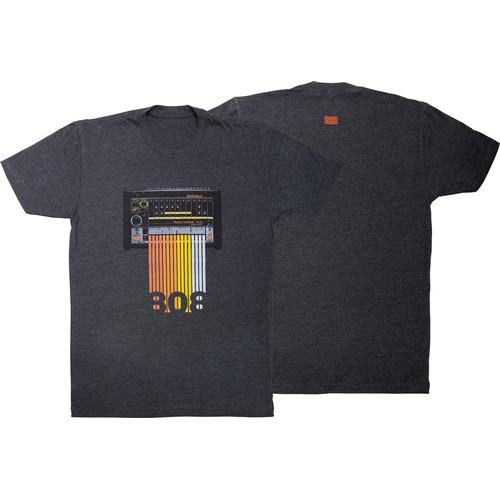 Roland TR-808 Crew T-Shirt (X-Large, Gray)