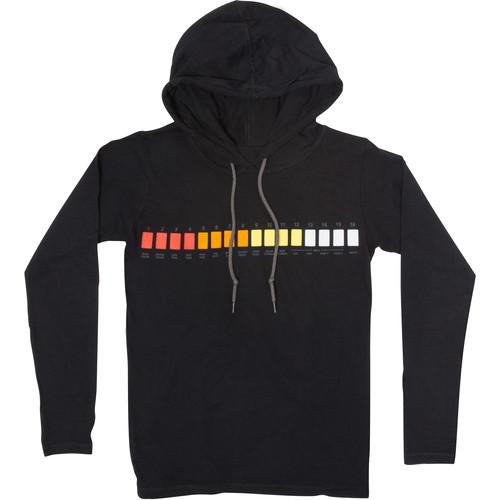 Roland Long-Sleeve Hooded T-Shirt (Large, Black)