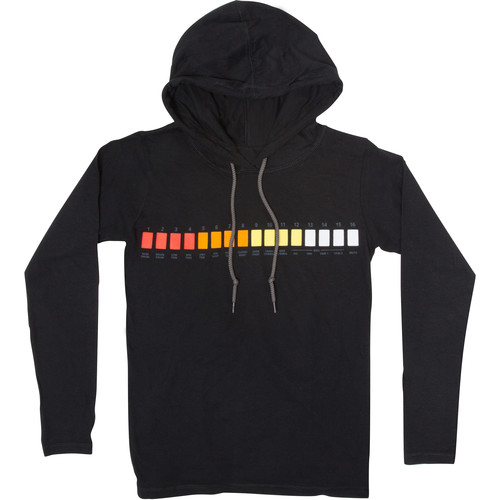 Roland Ladies Long-Sleeved Hooded T-Shirt (Medium, Black)