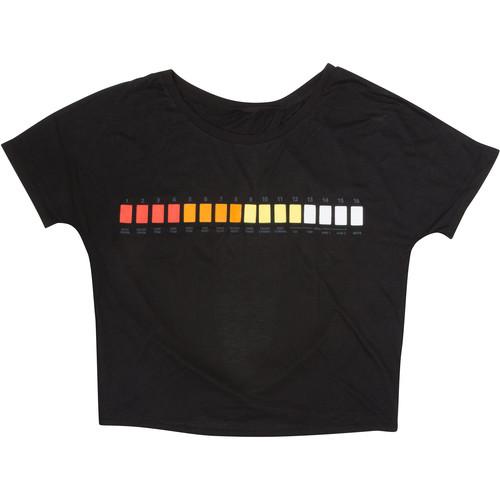 Roland Ladies Cut-Out Back T-Shirt (X-Large, Black)