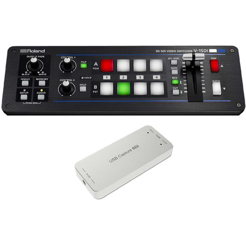 Roland V-1SDI 4-Channel HD Video Switcher Web Streaming Bundle