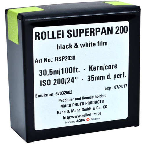 Rollei Superpan 200 Black and White Negative Film (35 mm Roll Film, 100')
