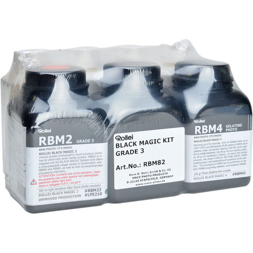 Rollei Black Magic High Contrast Liquid Photo Emulsion Kit