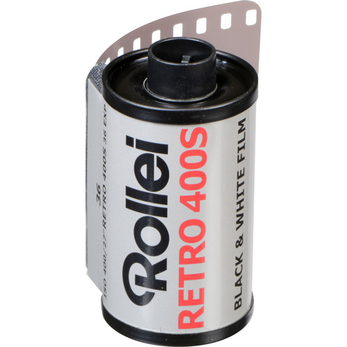 Rollei Retro 400S Black and White Negative Film (35mm Roll Film, 36 Exposures)