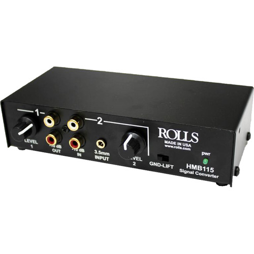 Rolls HMB115 2-Channel Stereo Analog Audio Balanced to/from Unbalanced Signal Converter