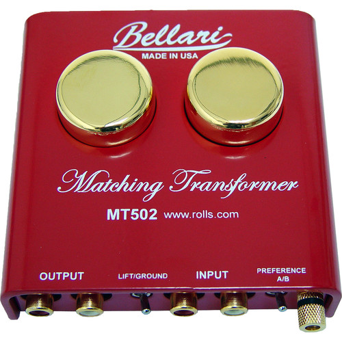 Rolls MT502 Bellari Step-Up Transformer for Turntables with Moving Coil Cartridges