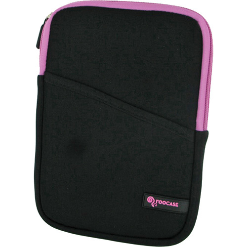 "rooCASE Super Bubble Neoprene Sleeve Case Cover for 7"" Tablet / eBook Reader and iPad mini (Black/Pink)"