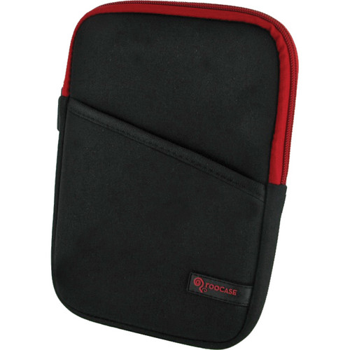 "rooCASE Super Bubble Neoprene Sleeve Case Cover for 7"" Tablet / eBook Reader and iPad mini (Black/Red)"