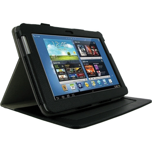 "rooCASE Dual-Axis Leather Case Cover For Samsung Galaxy Note 10.1"" Tablet (Black)"