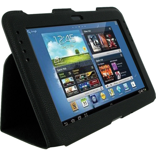 "rooCASE Ultra-Slim Vegan Leather Folio Case Cover For Samsung Galaxy Note 10.1"" Tablet (Black)"