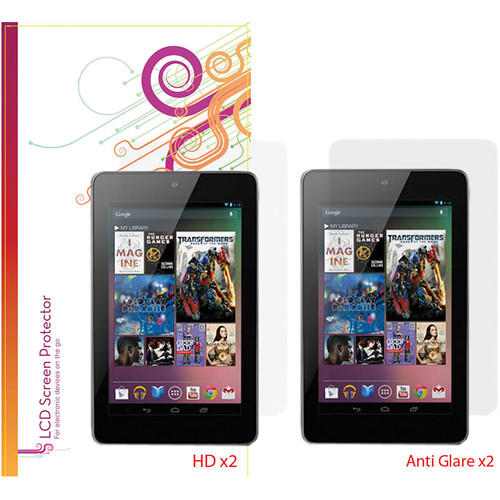 rooCASE 4-Pack (2 Anti-Glare, 2 HD Clear) Screen Protectors for Google Nexus 7 Tablet