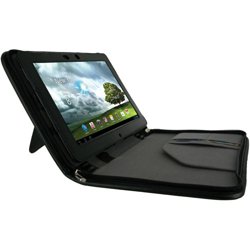 rooCASE Executive Leather Case for Asus Transformer Pad Infinity TF700T (Black)