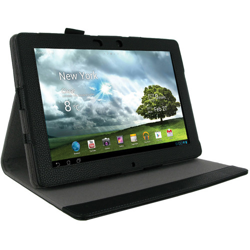 rooCASE Multi-Angle Folio Case Cover with Stand for the Asus Transformer Pad Infinity TF700T (Black)