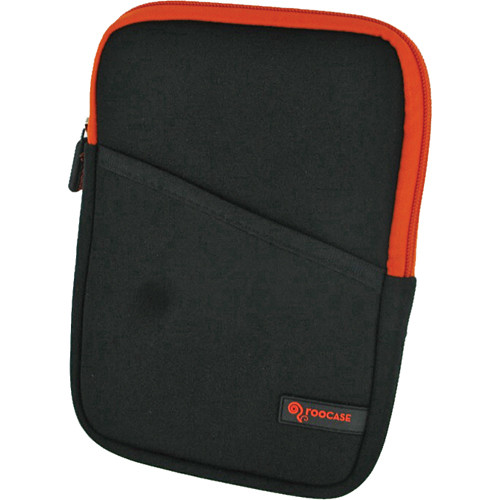 "rooCASE Super Bubble Neoprene Sleeve Case Cover for 7"" Tablet / eBook Reader and iPad mini (Black/Orange)"