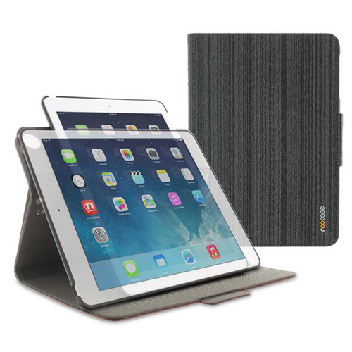 rooCASE 360 Rotating Dual-View Stand Case for iPad Air 1,2 (Canvas Black)