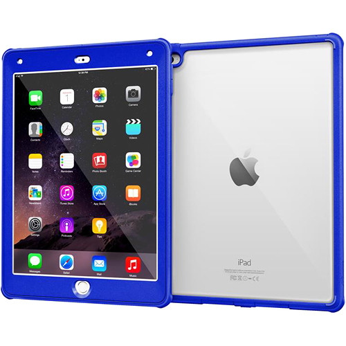 rooCASE Glacier Tough Case for Apple iPad Air 2 2014, 6th Generation (Palatinate Blue)