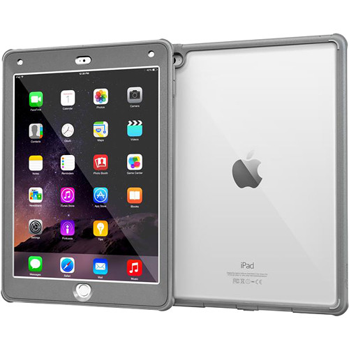 rooCASE Glacier Tough Case for Apple iPad Air 2 2014, 6th Generation (Space Gray)